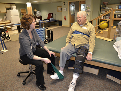 Staff from Big Stone Therapies provide therapy services to help Transitions patients recover after surgery, hospitalization or illness.