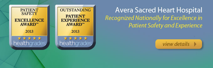 Avera Sacred Heart Recognized by Healthgrades