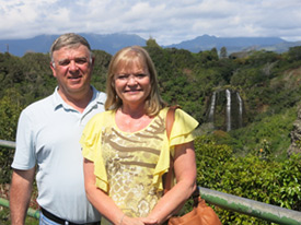 Neil and Linda Rommereim in Hawaii