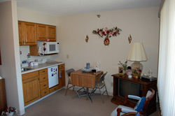 Kitchenette in Assisted Living apartment.