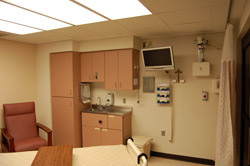 ICU room with eICU available.