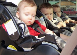 Triplets - three carseats to check!
