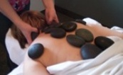 massage therapy with lava stones