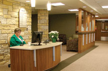 Volunteer and Reception Area