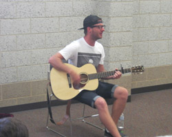 Chris August performs at the BHC