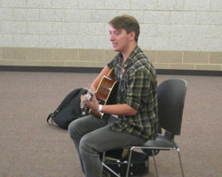 Josiah James performs at the Avera Behaioral Health Center