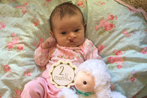 Emmalynn at 2 months