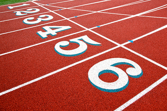 numbers on a track