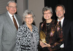Pictured: Charles and Annette Jarratt, Dr. Patty Peters and husband Scott Peters