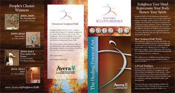 Sculpturewalk 2012 brochure