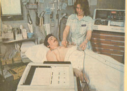 A three-channel EKG machine was added to the Emergency Room in 1987.