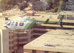 This Careflight helicopter was added as part of the fleet in 1988.