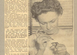 In the 1940s, frogs were used to determine whether or not a woman was pregnant.