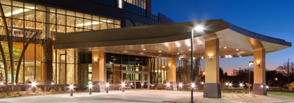 Front Entrance of the Prairie Center and Cancer Institute