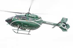 CareFlight helicopter