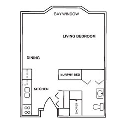 Laurel Oaks Studio Floor Plan