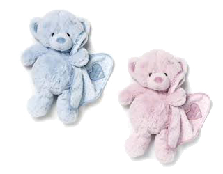 Pink or Blue Stuffed Teddy Bear