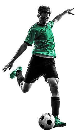 Soccer player green