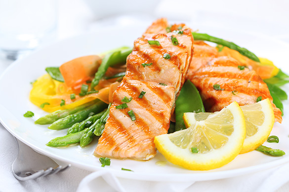 healthy salmon meal