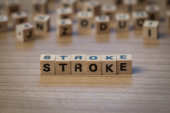 stroke spelled out on wooden blocks