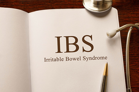 irritable bowel syndrome written on book