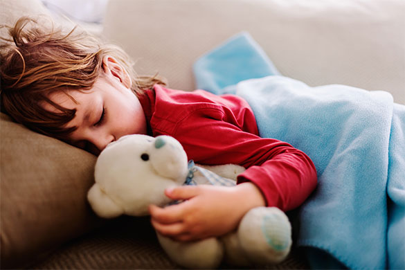 Toddler Sleeping with Bear