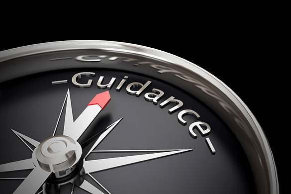 compass that says guidance
