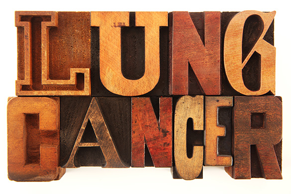 lung cancer in wood blocks