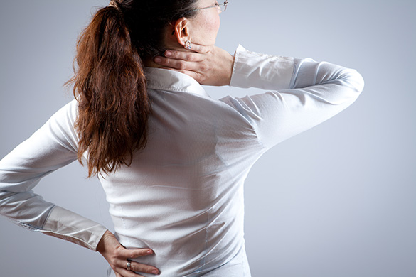 woman with neck and back pain