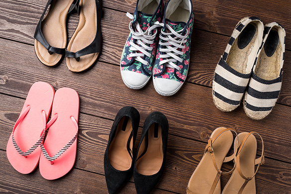 variety of women's shoes