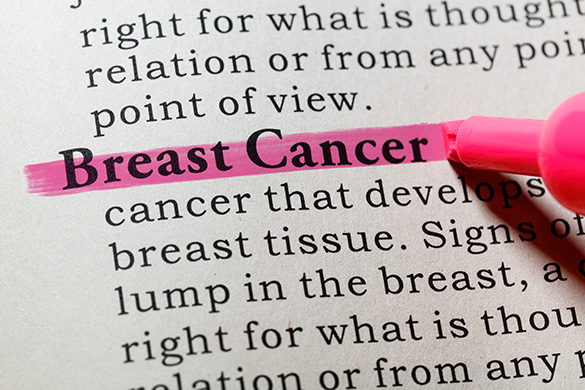 breast cancer definition highlighted