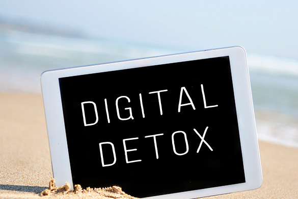 digital detox on tablet