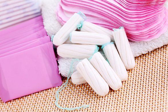 tampons and pads for heavy periods