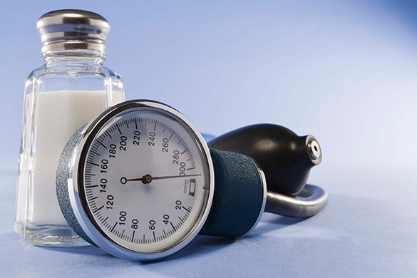 blood pressure cuff and salt