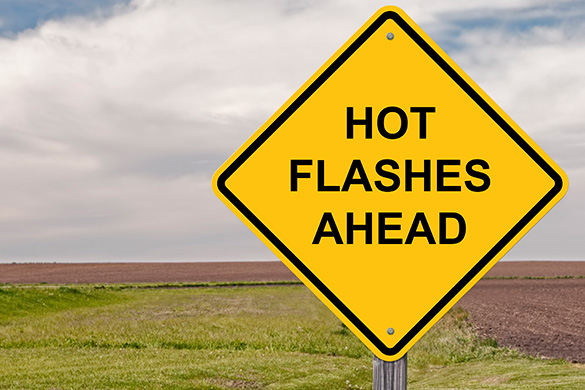 hot flashes ahead sign