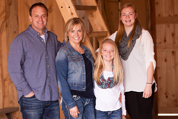 Jill Schlumbohm and family