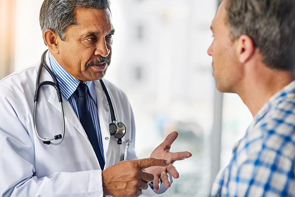 doctor advising his patient