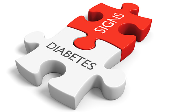diabetes signs puzzle pieces