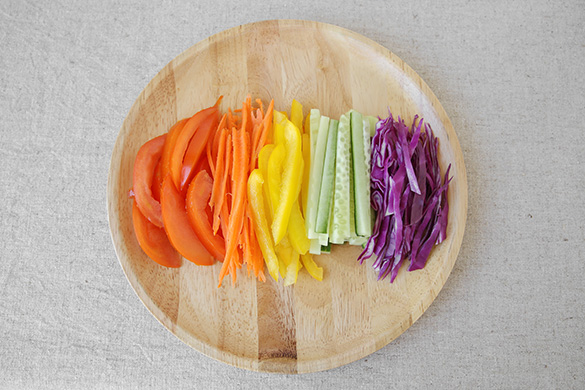 colorful veggies on a plate
