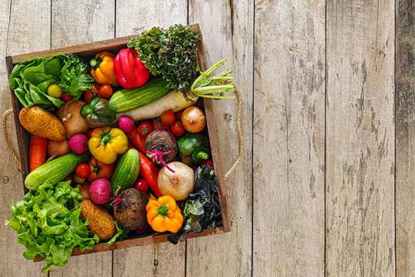 variety of vegetables in a crate