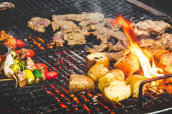 Grilling Vegetables, Meat & Potatoes