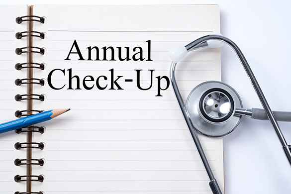 annual check reminder and stethescope
