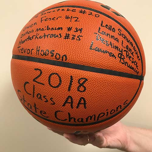Autographed Bucks 2018 Championship Team Basketball
