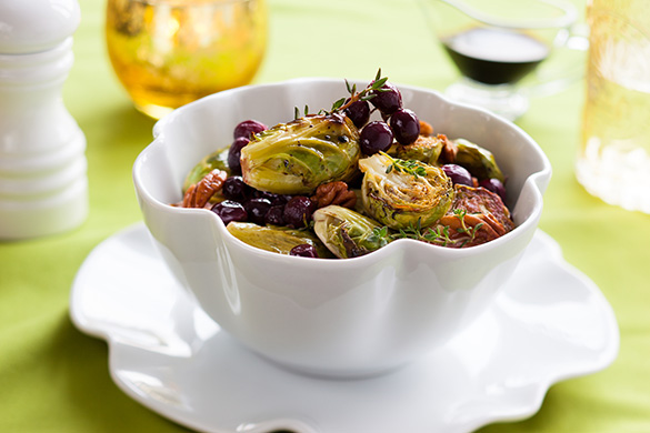 Brussel Sprouts with Balsamic and Grapes