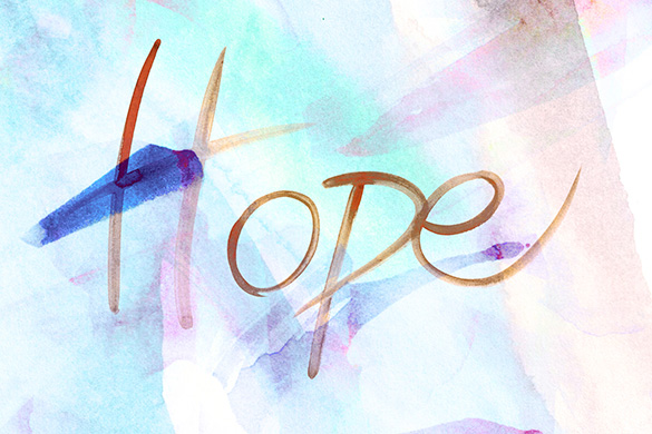hope written in water color