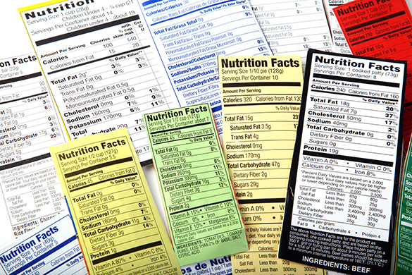 nutrition facts food labels