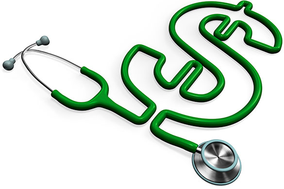 stethoscope shaped like a dollar sign