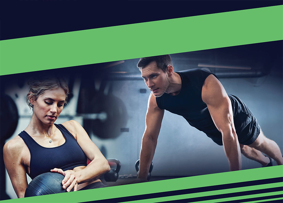 AR Fit man and woman working out
