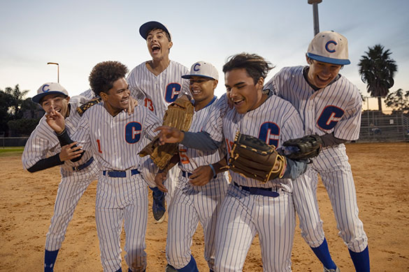 baseball players celebrating win
