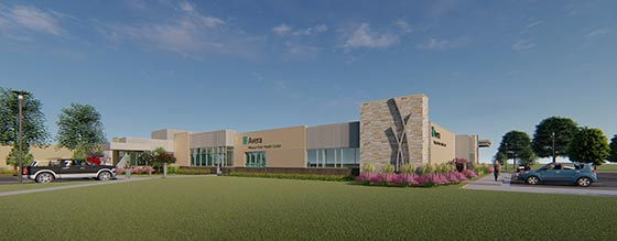 Avera Missouri River Health Center Rendering